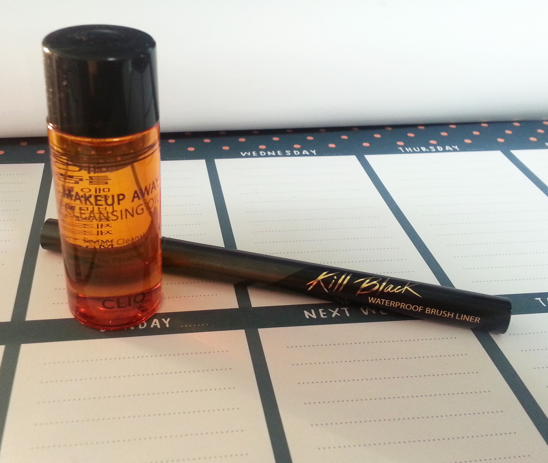 The liner is fairly typical of a pen liner – it's in a long black ...